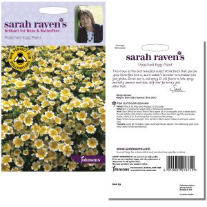 Sarah Raven's Poached Egg Plant Seeds by Johnsons
