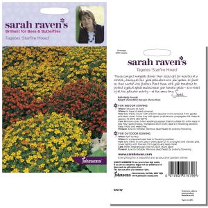 Sarah Raven's Tagetes 'Starfire Mixed' Seeds by Johnsons