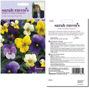Sarah Raven's Viola 'Comedy Mixed F2' Seeds by Johnsons