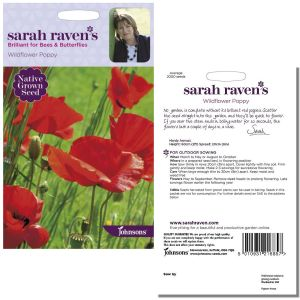 Sarah Raven's Wildflower Poppy Seeds by Johnsons