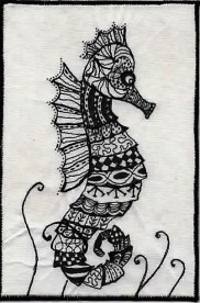 Christine Bostock, R24, Zentangle 4