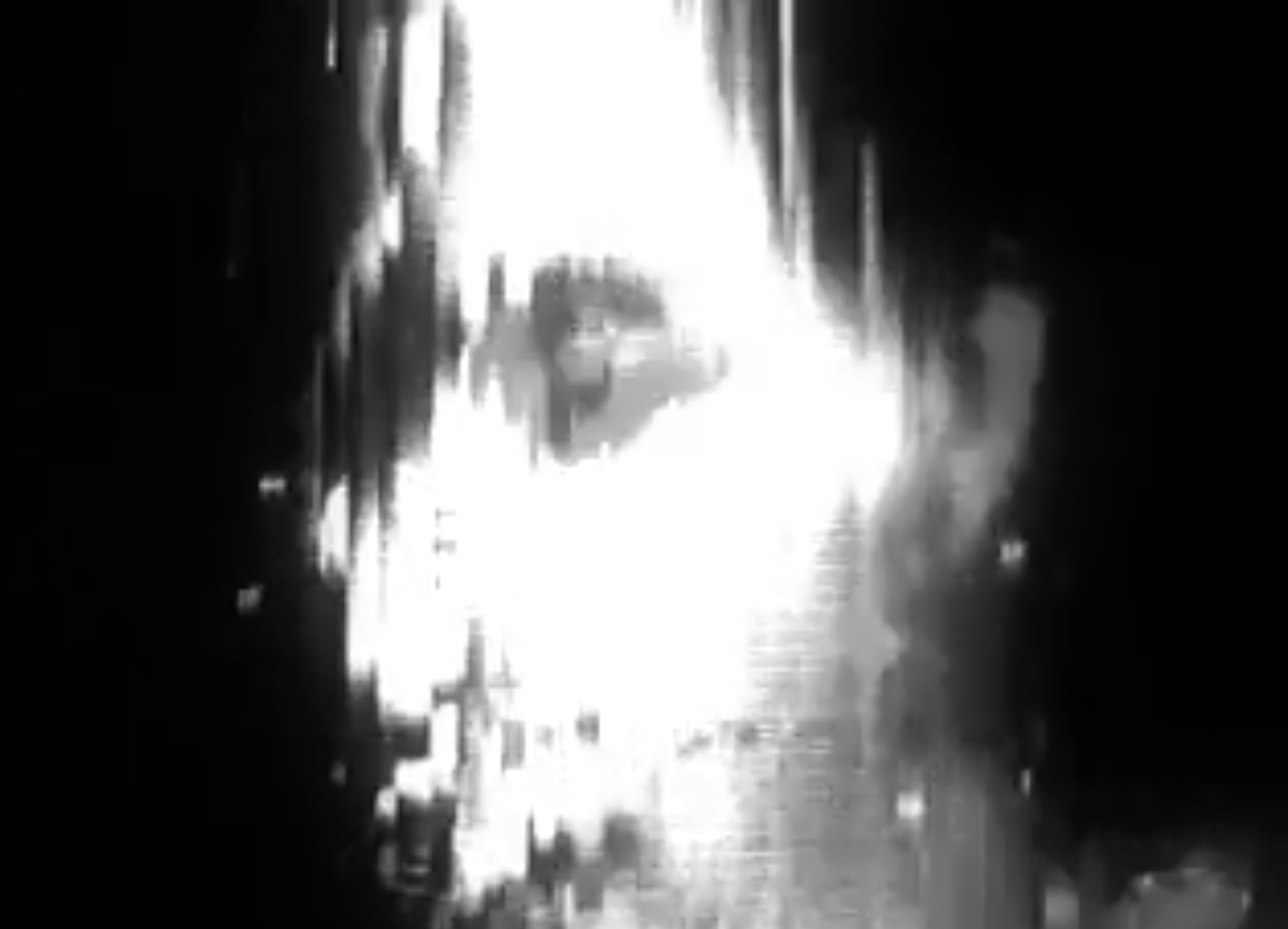 Evoking a disintegrating communique, this early digital video shreds and shifts the face of a young woman, often passing through episodes of skull like imagery or even complete abstraction.