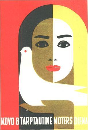 Russian Poster by Juozas Galkus 1968