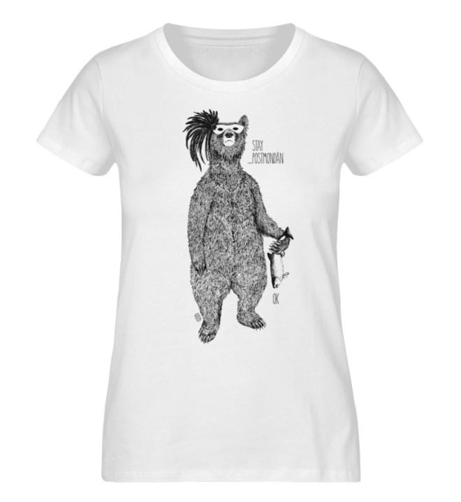 postmondäne Bärin - Damen Premium Organic Shirt-3