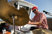Mouth Washington drummer Zach Hansen during Big Fun on a Boat on Casablanca Cruises. I'm pretty sure this guy fucking hated being photographed, but every shot we took of him was pure gold.