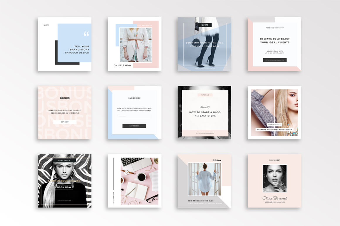 Photoshop Fashion Instagram Template Postmuse Design On Your Phone