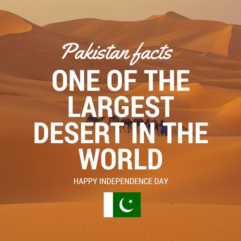 Pakistan Facts: One of the largest deserts in the world is in Thar, Pakistan.