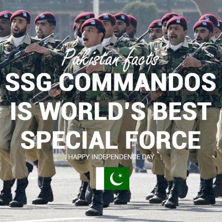 Pakistan Facts: SSG Commandos is world's best special armed force.