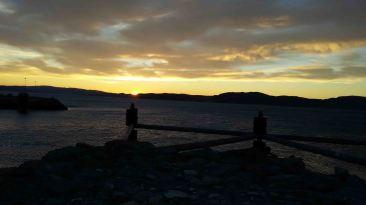 Tramonto sul Trondheimsfjord