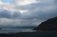 Le nuvole basse su Honningsvag