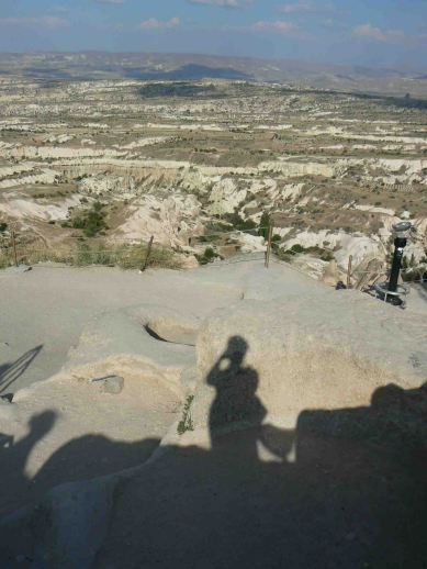 La Cappadocia dalla rocca di Uchisar