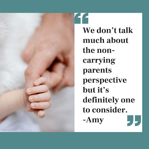 Quote about non birthing parent experience