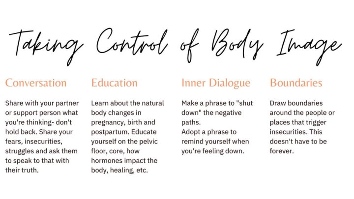 taking control of your postpartum body image