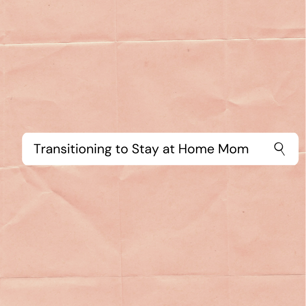 small group for women making the switch to a stay at home mom