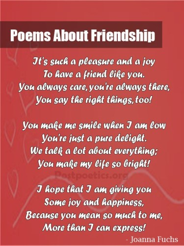 best poems about friendship