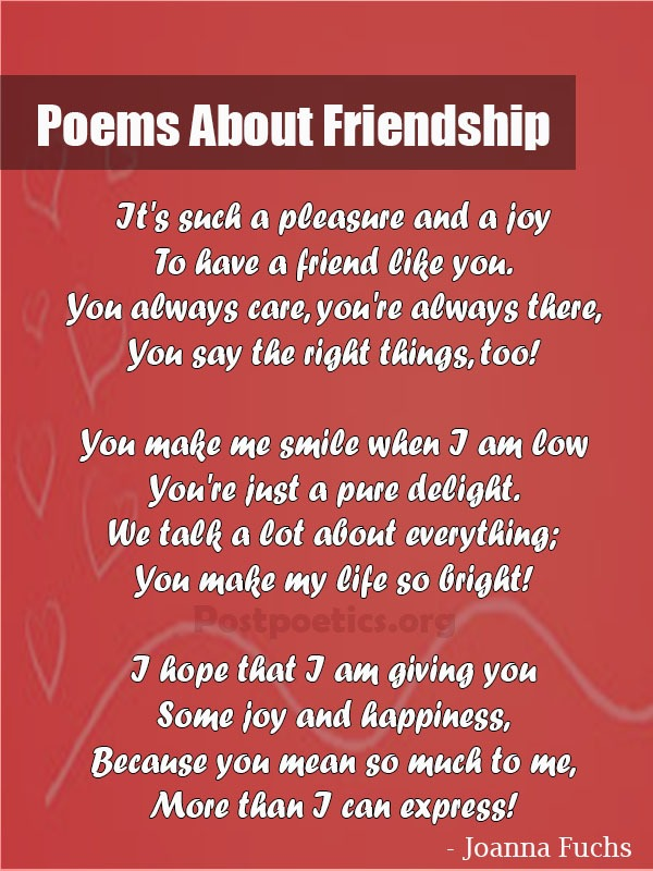 best poems about friendship