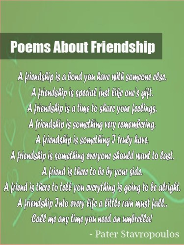 long poems about friendship