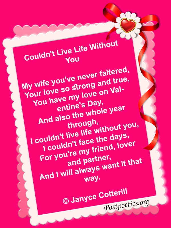 Valentine Day Poems For Wife