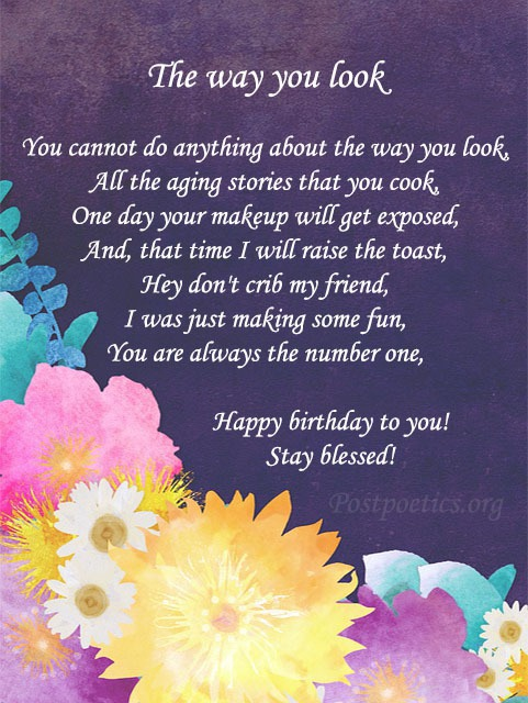 birthday funny poems for her