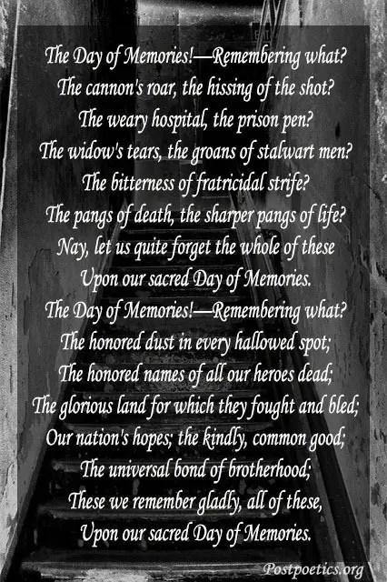 sad unforgetabale death poems