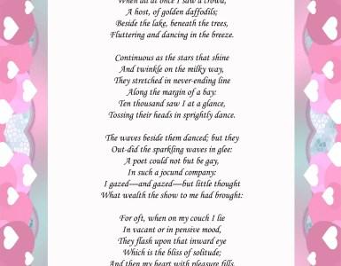 William Wordsworth Daffodil Poem