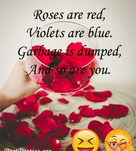 funny roses are red poems