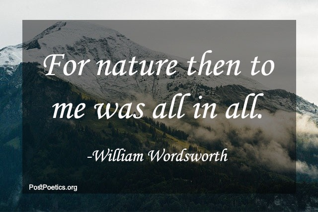 quotes on nature of william wordsworth