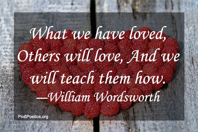 william wordsworth quotes about love