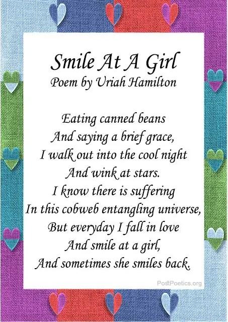beautiful smile poems