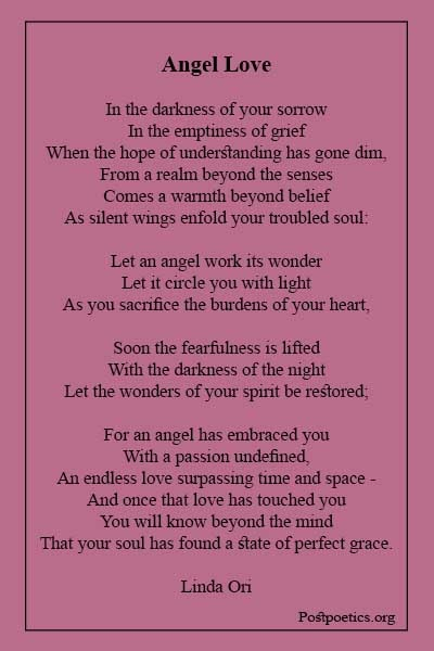 Angel poems death