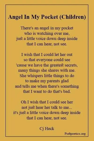 Angel poems for children
