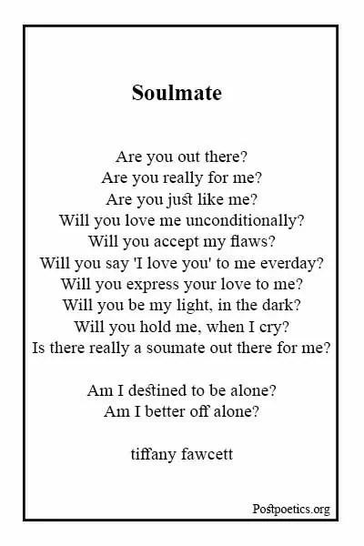 Black soulmate poems