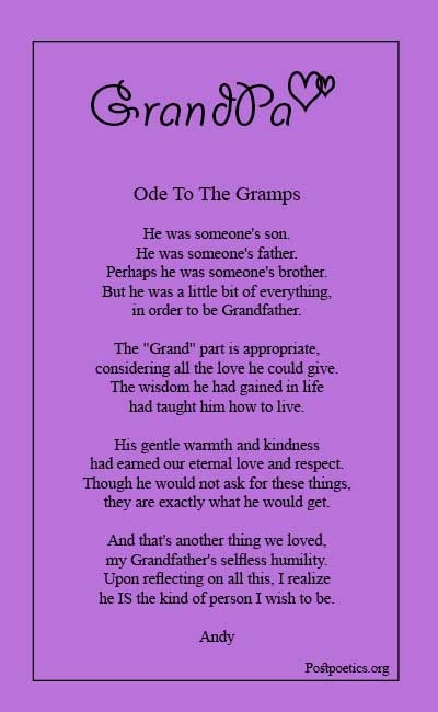 Poems about grandpa