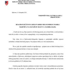 Reagiranje župana Marušića na Bajsovu izjavu