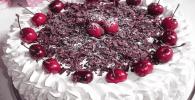 Genovesa de guindas, torta genovesa