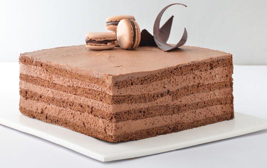 Torta de varios mousses de chocolates