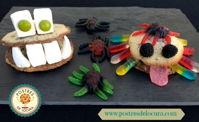 Monstruos de galleta para Halloween