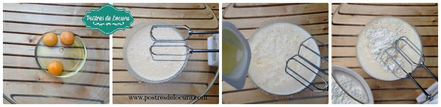 Preparacion bizcocho de yogur 1