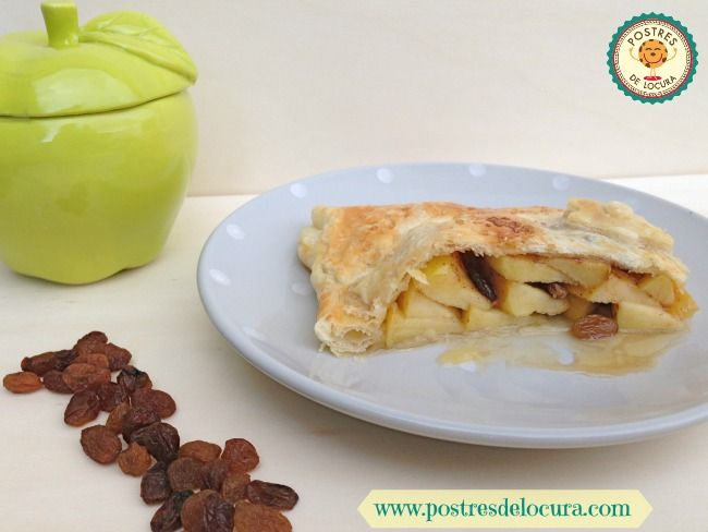 Trozo de empanada de manzana