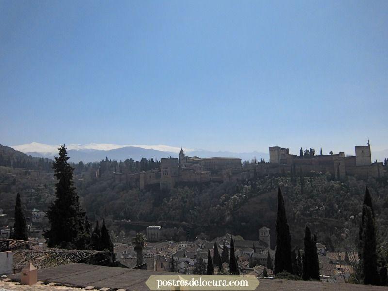 la alhambra vista desde el mirador de San Nicolas