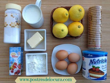 Ingredientes pie de limon