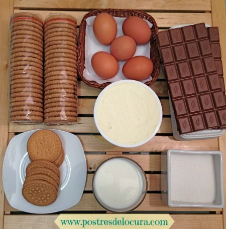 Ingredientes tarta de chocolate y queso crema