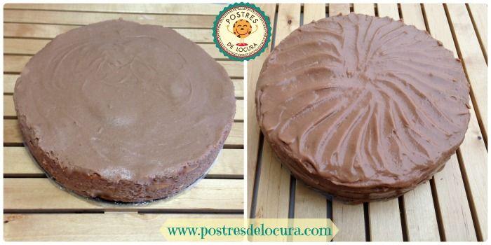 Tarta de chocolate y queso crema sin decorar