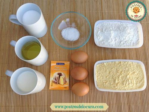 ingredientes pan de maiz