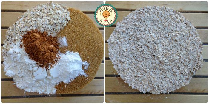 ingredientes secos galletas de avena y manzana