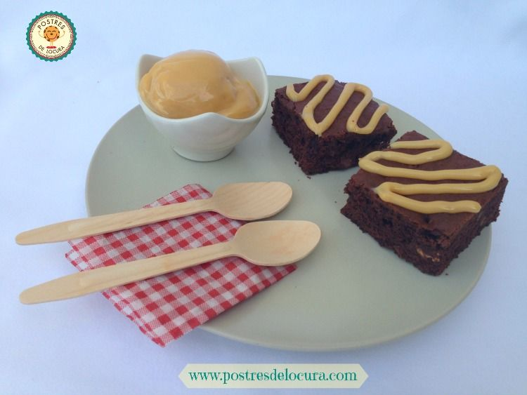 Brownies con dulce de leche