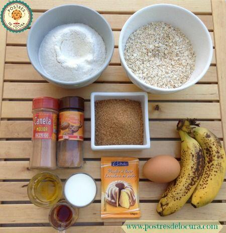 Ingredientes galletas de plátano y avena