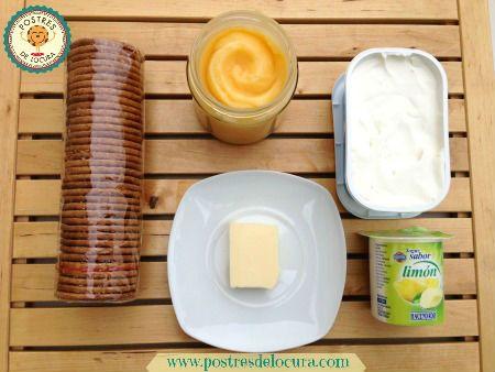 ingredientes vasitos de tarta de queso con crema de limon