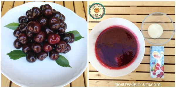 ingredientes mousse de cerezas