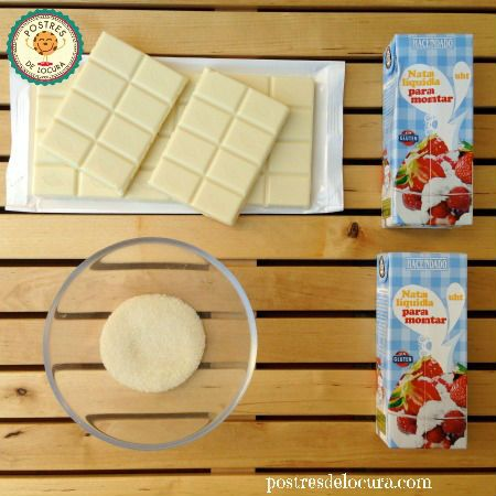 Ingredientes mousse de chocolate blanco